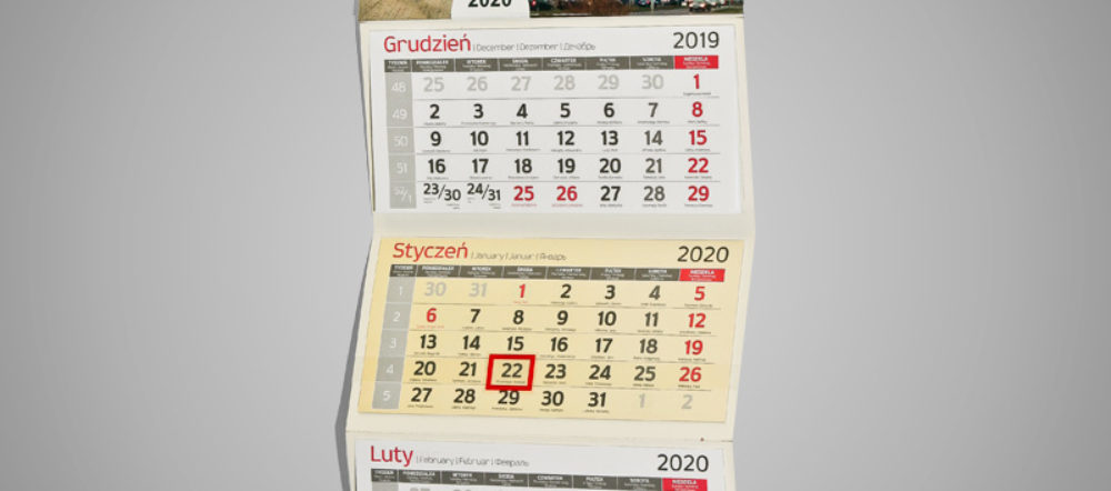 Kalendarz trójdzielny ekonomiczny LIG-BUD