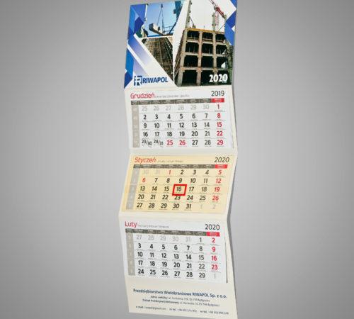 Kalendarz trójdzielny ekonomiczny RIWAPOL