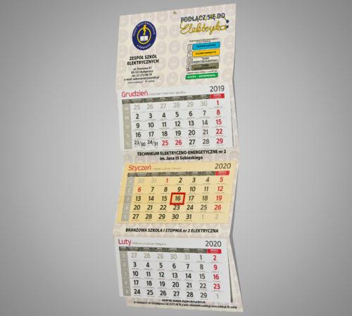 Kalendarz trójdzielny ekonomiczny ZSE