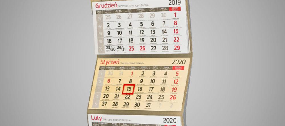 Kalendarz trójdzielny ekonomiczny PROJTECH