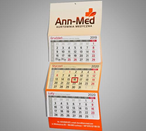 Kalendarz trójdzielny ekonomiczny ANN-MED