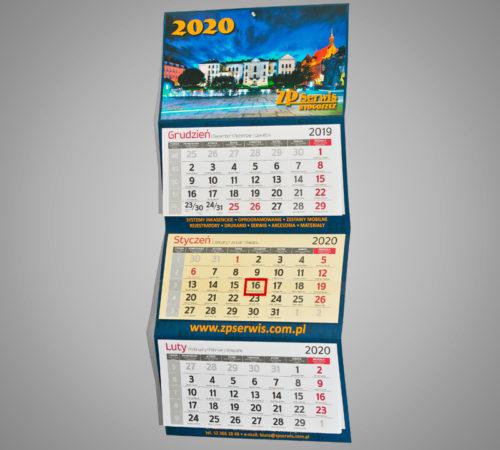 Kalendarz trójdzielny ekonomiczny ZP SERVIS