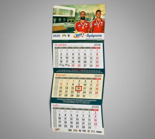 Kalendarz trójdzielny ekonomiczny BYDGOSTIA