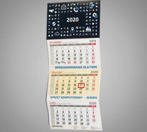 Kalendarz trójdzielny ekonomiczny GAMATRONIC