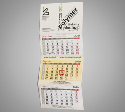 Kalendarz trójdzielny ekonomiczny IMPIB