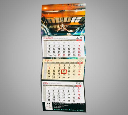 Kalendarz trójdzielny ekonomiczny PANDA