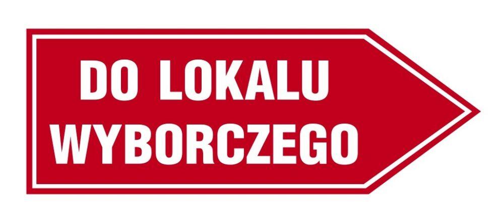 Strzałka - drogowskaz WYBORY 2020
