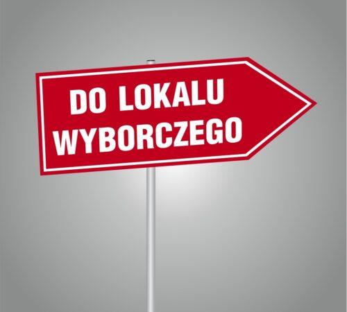 tablice drogowskazy do lokalu wyborczego
