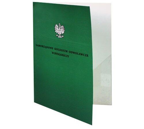teczka na dokumenty z nadrukiem kieszeń foliowa