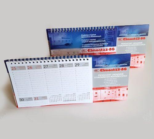 kalendarz biurkowy tygodniowy Elmontaż