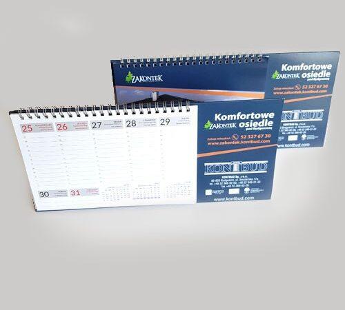 kalendarz biurkowy tygodniowy Kontbud