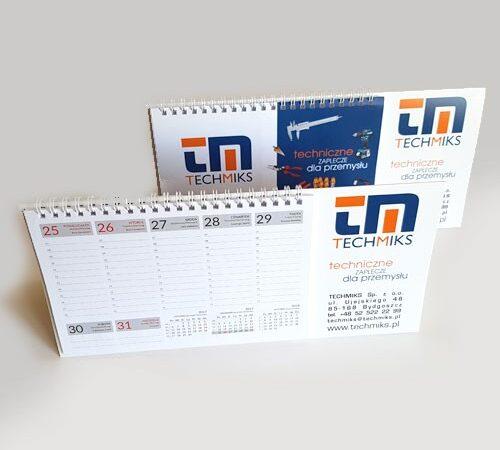 kalendarz biurkowy tygodniowy TechMiks