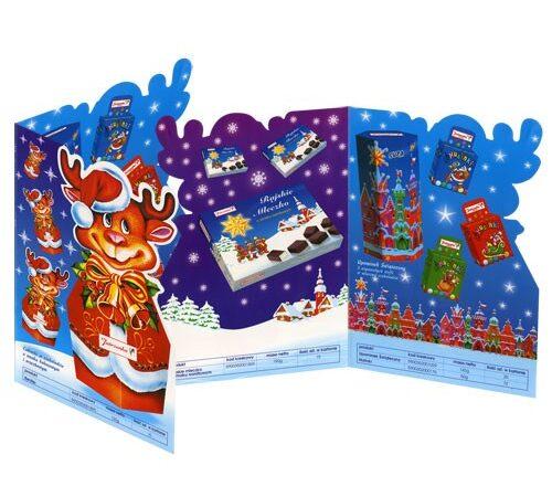 ulotka reklamowa wykrawana świąteczna